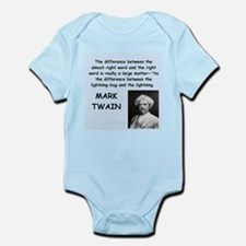Mark Twain Quote Body Suit