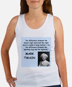 Mark Twain Quote Tank Top