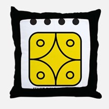 YELLOW Self-Existing STAR Throw Pillow
