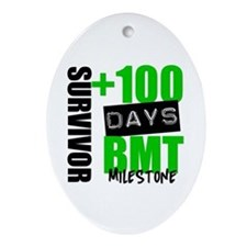 100 Days BMT Survivor Ornament (Oval)