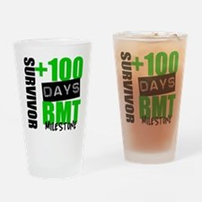 100 Days BMT Survivor Drinking Glass