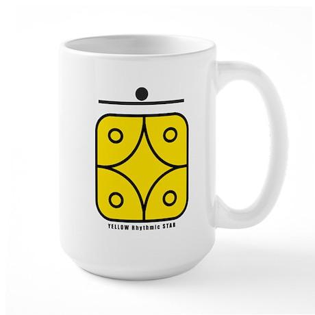 YELLOW Rhythmic STAR Large Mug