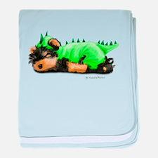 Yorkie Dragon baby blanket