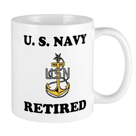 Retired Navy Senior Chief Coffee Cup