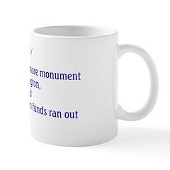 Mug: Work on Mount Rushmore monument for president