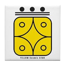 YELLOW Cosmic STAR Tile Coaster