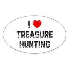 I * Treasure Hunting Oval Decal