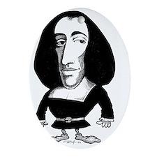Baruch Spinoza, caricature - Oval Ornament