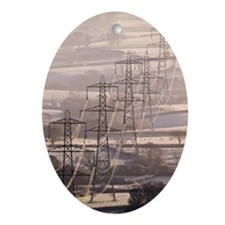 Electricity pylons - Oval Ornament