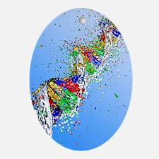 DNA damage, computer artwork - Oval Ornament