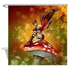 Autumn Fairy Shower Curtain