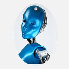 Humanoid robot, artwork - Oval Ornament
