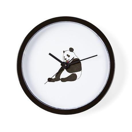 PANDA BEAR HOLDING A SUCKER Wall Clock