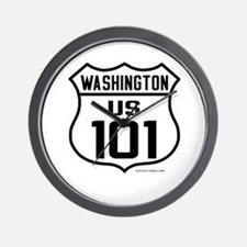 US Route 101 - Washington - Wall Clock