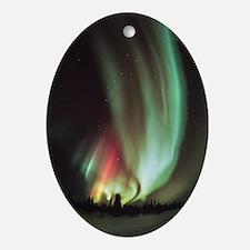 Aurora borealis - Oval Ornament