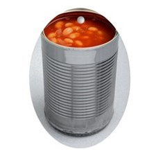 Baked beans in a can - Oval Ornament