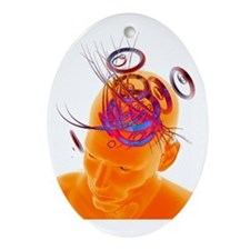 Artificial intelligence, artwork - Oval Ornament