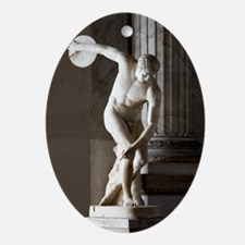 Discus thrower statue - Oval Ornament