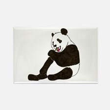 PANDA BEAR WITH A LOLLY POP Rectangle Magnet