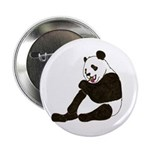 PANDA BEAR WITH A LOLLY POP Button