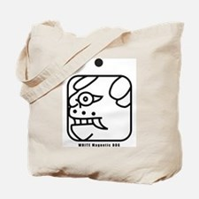 WHITE Magnetic DOG Tote Bag