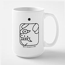 WHITE Magnetic DOG Mug