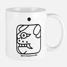 WHITE Magnetic DOG Mug