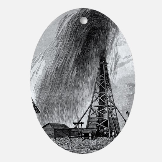 Oil well, 19th century - Oval Ornament