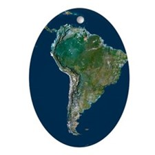 South America - Oval Ornament