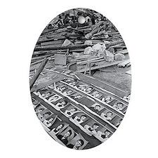 Spitak earthquake damage, Armenia - Oval Ornament