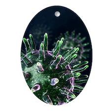Virus particles, artwork - Oval Ornament