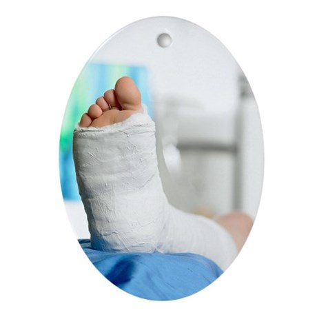 Broken foot - Oval Ornament