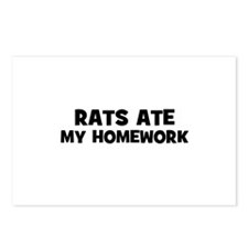 Rats Ate My Homework Postcards (Package of 8)