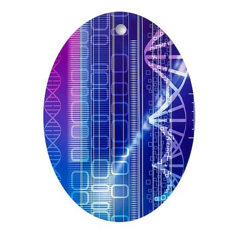 DNA molecules - Oval Ornament