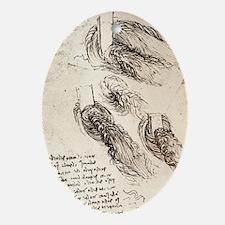 Notes by Leonardo da Vinci - Oval Ornament