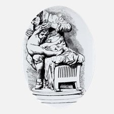 son of smallpox - Oval Ornament