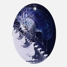 Conceptual art of brain - Oval Ornament