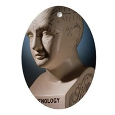 Phrenology bust by L.N. Fowler - Oval Ornament