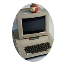 Apple II computer - Oval Ornament