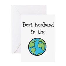 Best husband in the world Greeting Card