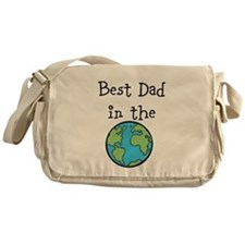 Best Dad in the world Messenger Bag