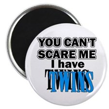 You Can't Scare Me...Twins Blue Magnet