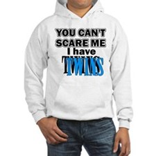 You Can't Scare Me...Twins Blue Hoodie