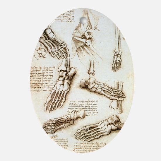 Foot anatomy by Leonardo da Vinci - Oval Ornament