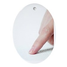 Braille reading - Oval Ornament
