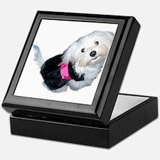 Cute Maltese puppy Keepsake Box