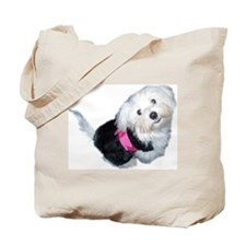 Cute Maltese art Tote Bag