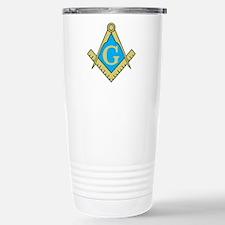 Simple Masonic Stainless Steel Travel Mug