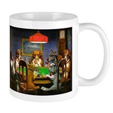 Card Playing Dogs Mug