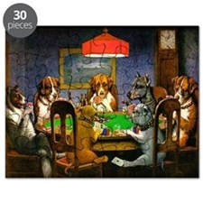 Card Playing Dogs Puzzle